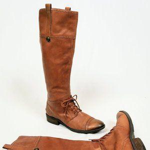 Sam Edelman Distressed Brown Riding Boot